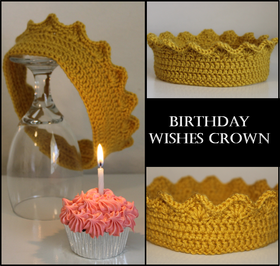 BIRTHDAY WISHES CROWN … FREE CROCHET PATTERN – Thoughts